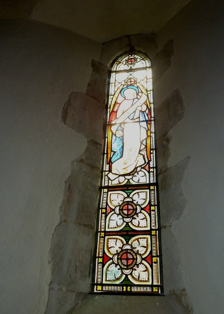 St Andrew, South Warnborough: stained glass window (2)