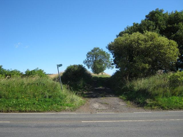 Footpath leading off Merrington Lane