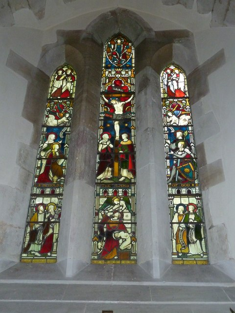 St Andrew, South Warnborough: stained glass window (3)