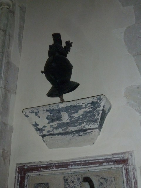St Andrew, South Warnborough: helmet