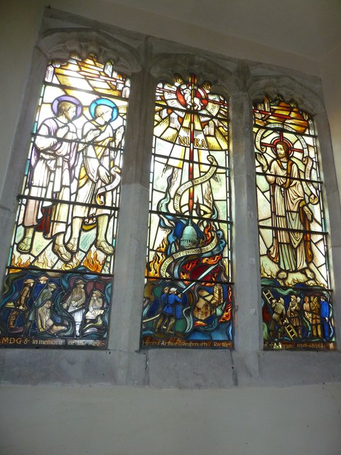 St Andrew, South Warnborough: stained glass window (4)