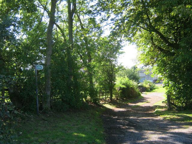 Footpath to Merrington Grange and beyond