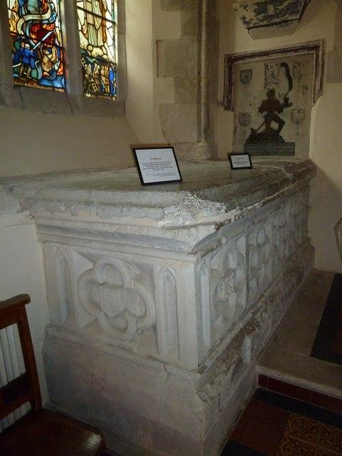 St Andrew, South Warnborough: tomb memorial