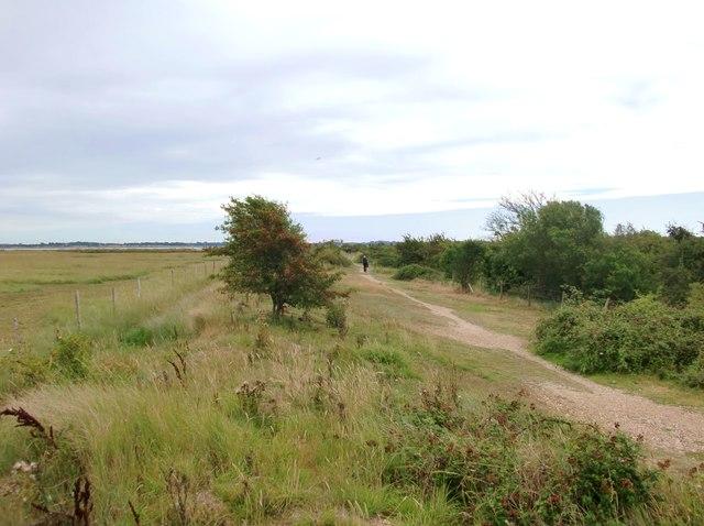 The path to Thornham Point