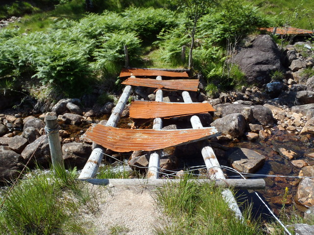 Recycled bridge east of Meall nan Gobhar