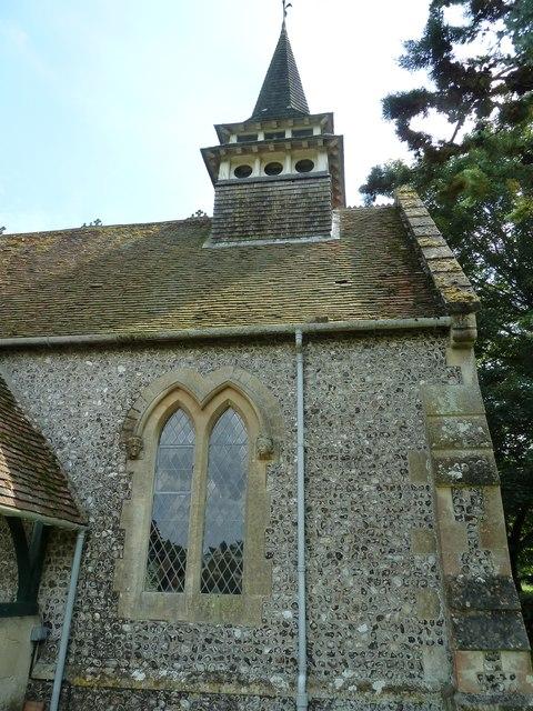 "St Lawrence, Weston Patrick: ""spire"""