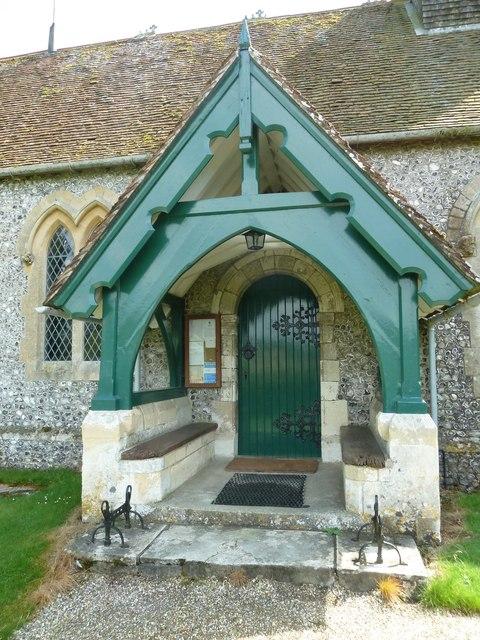 St Lawrence, Weston Patrick: porch