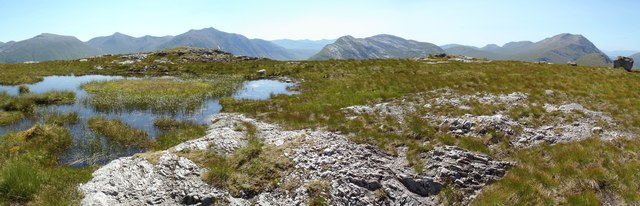 SW Panorama from Meall nan Gobhar