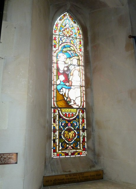 St Lawrence, Weston Patrick: stained glass window (1)