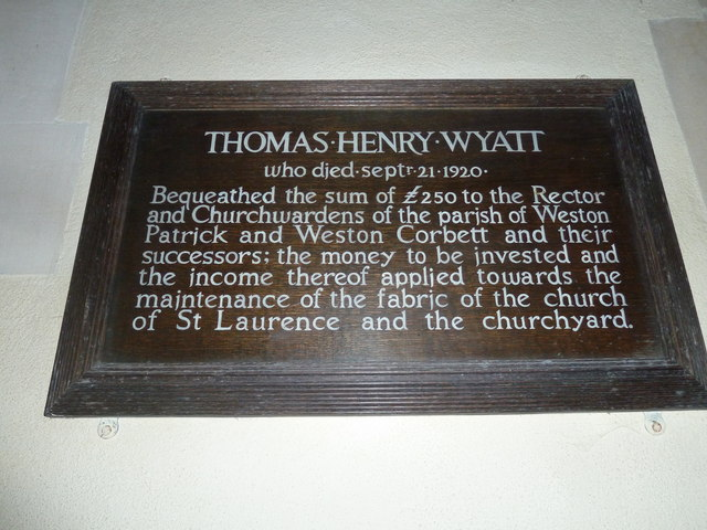 St Lawrence, Weston Patrick: a less famous Wyatt