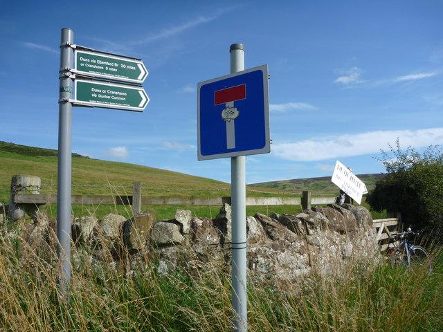 Rural East Lothian : Deuchrie Road-end
