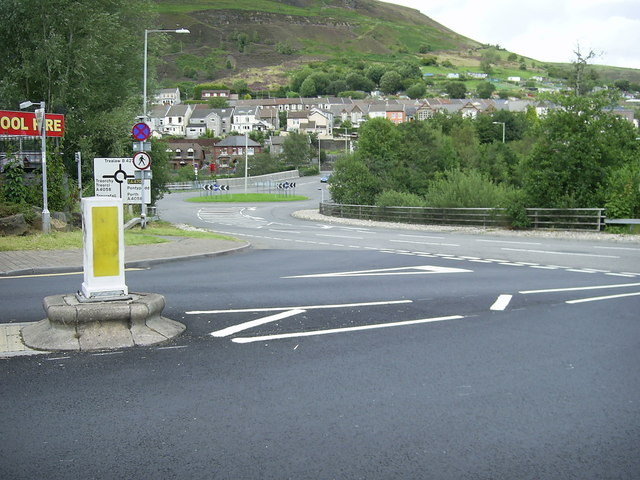Roundabout between Tonypandy and Trealaw