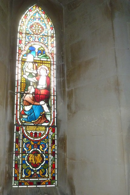 St Lawrence, Weston Patrick: stained glass window (3)