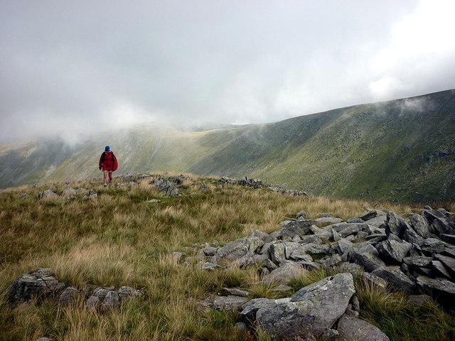 Rocky fellside north of Thornthwaite Crag