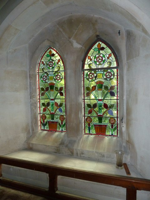 St Lawrence, Weston Patrick: stained glass window (4)