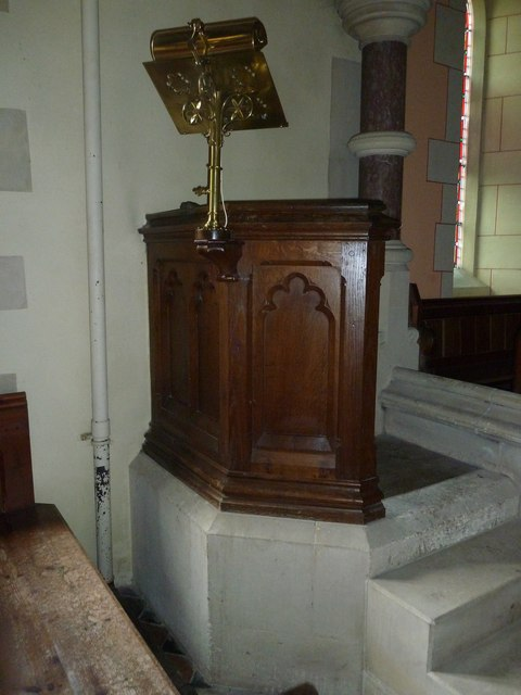 St Lawrence, Weston Patrick: pulpit