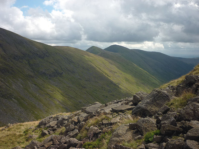 Rocky fellside above Threshthwaite Mouth