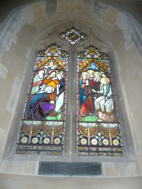 All Saints, Long Sutton: stained glass window (a)