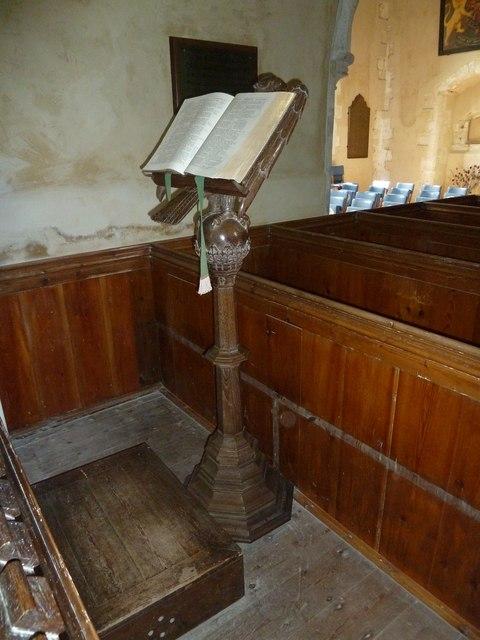 All Saints, Long Sutton: lectern