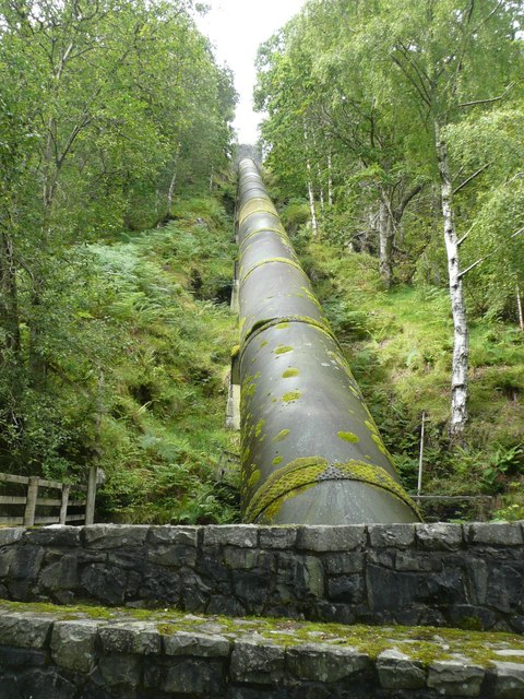The pipeline to Lochay Power Station