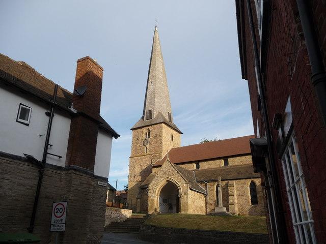 St. Mary's church, Cleobury, from Lion Lane