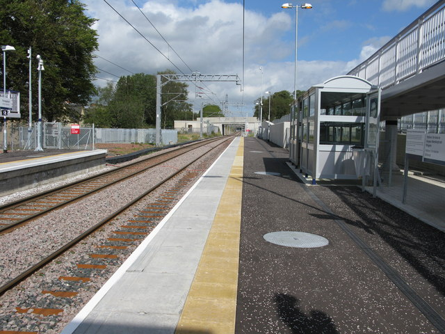 Drumgelloch railway station, looking North-East