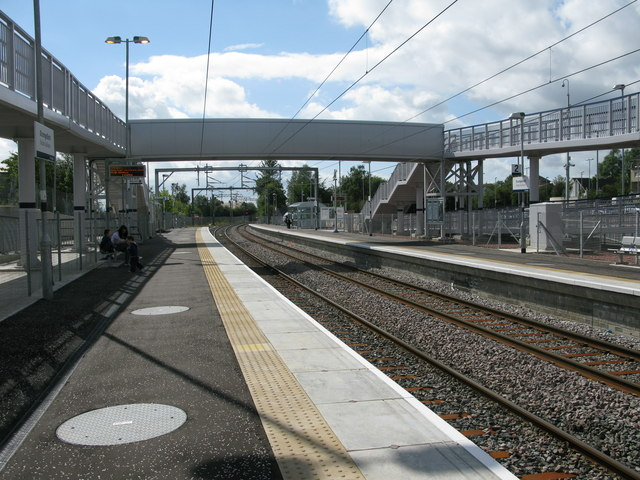 Drumgelloch railway station, looking South-West