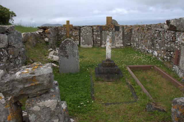 Graves in Losgaintir cemetery