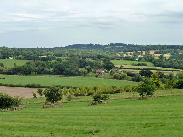 View over valley of River Arun
