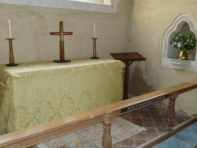 All Saints, Long Sutton: side altar