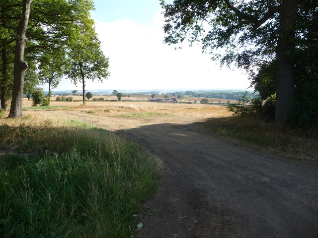 View from the farm track above Upper House