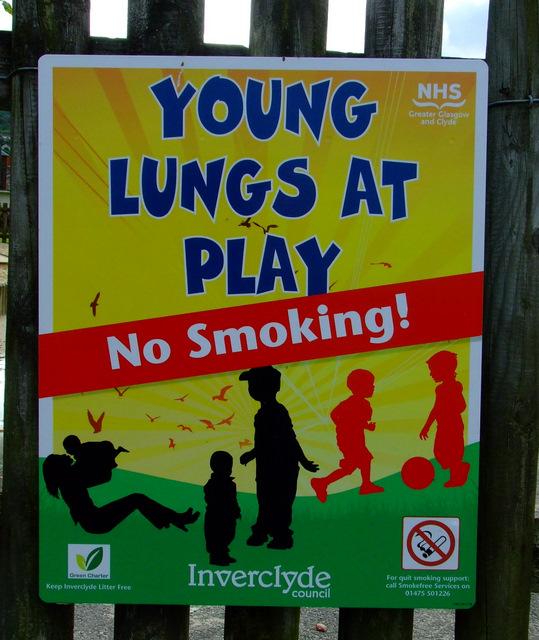 No smoking play park