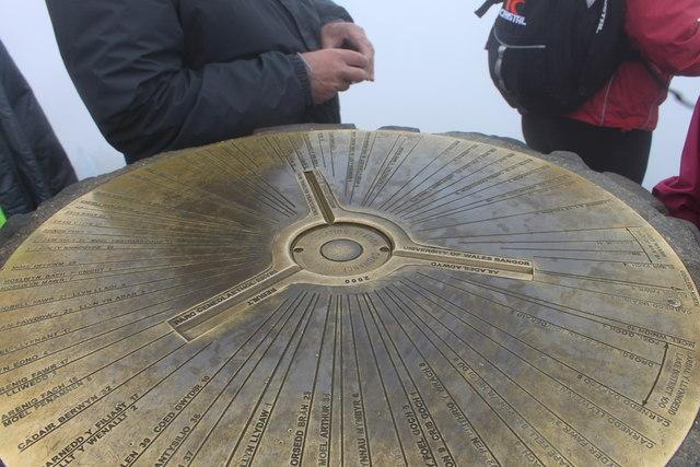 Snowdon summit triangulation pillar detail