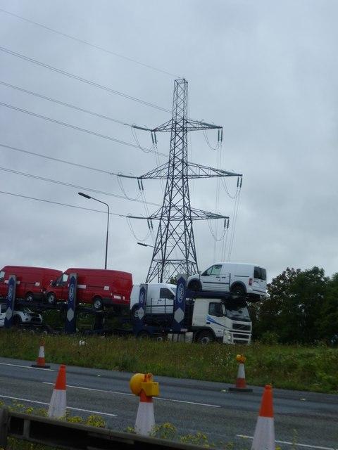 Pylon near M25 Thurrock Services