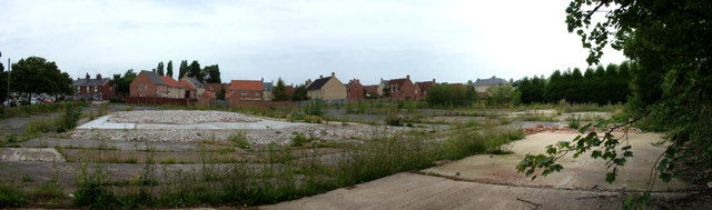 Tayfen estate seen across demolition site
