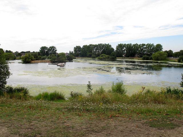 Boating lake in Mayesbrook Park