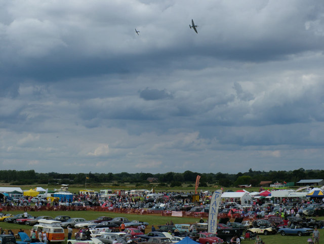 View of airshow from control tower