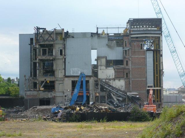 S&N Bottling Plant demolition