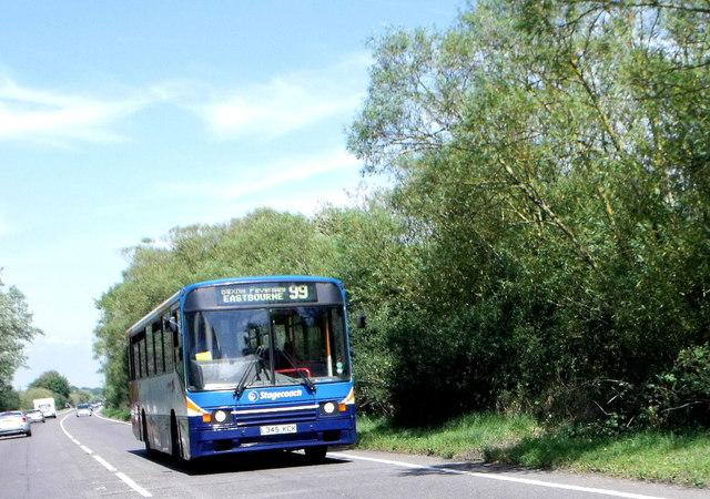 Stagecoach bus near Pevensey