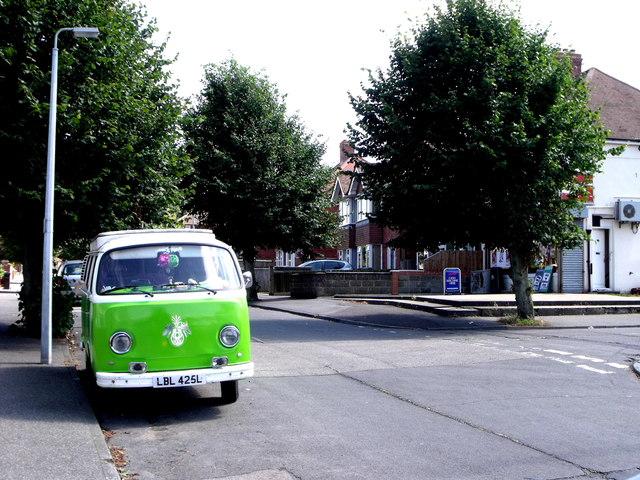 VW Camper van in St. George's Road, Bexhill