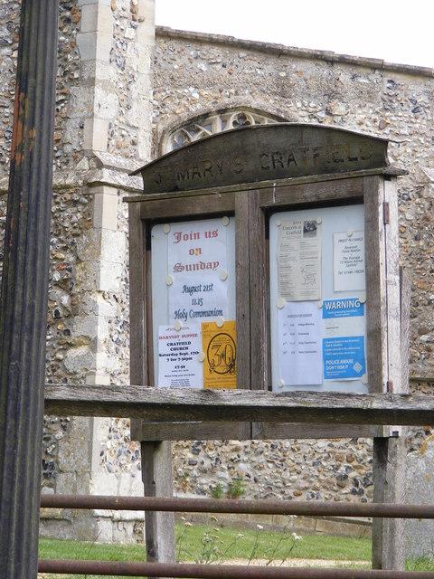 St.Mary's Church, Cratfield Notice Board