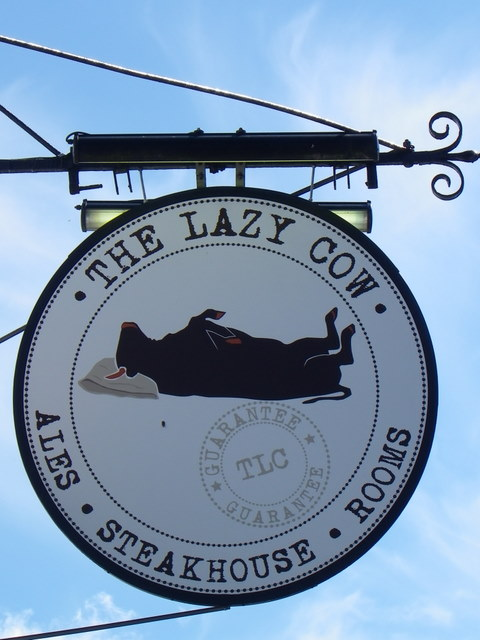Sign for the Lazy Cow