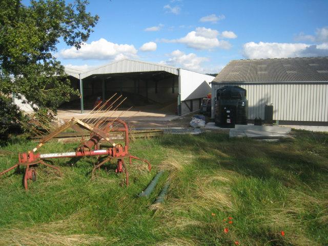 View of Nurshanger farm yard