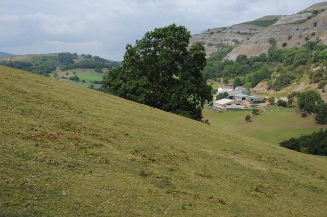 View to Creigiau Eglwyseg