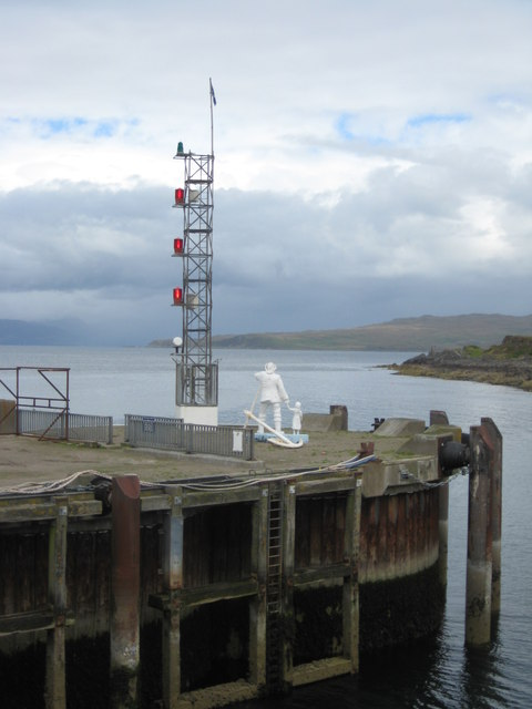 Sculpture at the roundhead on Steamer Pier, Mallaig