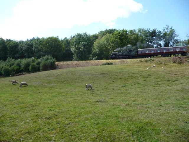 Steam train on the Severn Valley Railway near Arley
