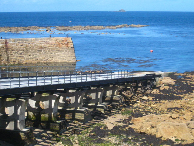 The lifeboat slipway at Sennen Cove