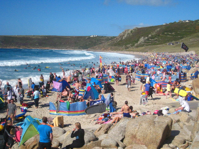 High summer on Sennen Beach