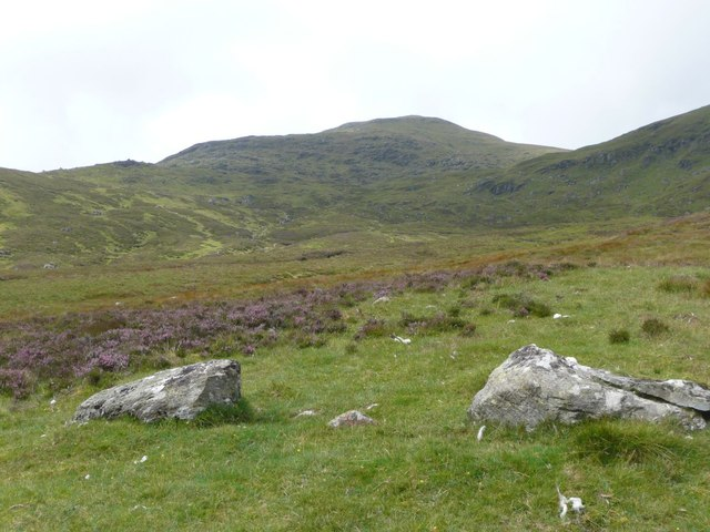 Boulders on the southern slopes of Cam-Creag