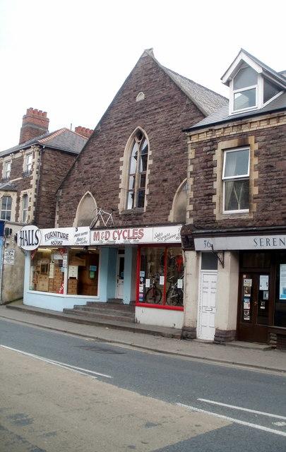 Bike shop and furniture shop, Frogmore Street, Abergavenny